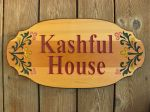 Wooden sign house family name