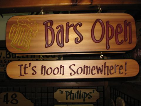 Sign Bars Open