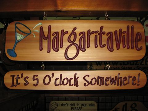 Wood Sign Mararitaville - it's 5 O'clock somewhere