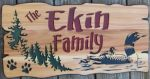 Rustic wood sign